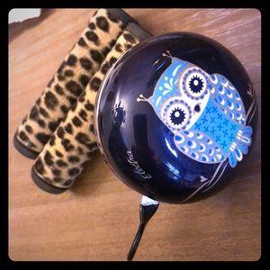 Electra BeachCruiser Hand Grips + Bell Owl Leopard